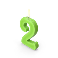 Number Two Candle PNG & PSD Images