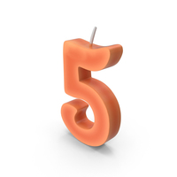 Number Five Candle PNG & PSD Images