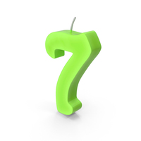 Number Seven Candle PNG & PSD Images