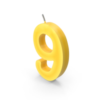 Number Nine Candle PNG & PSD Images