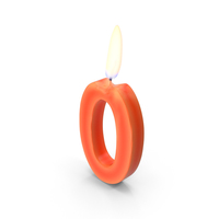 Number Zero Candles PNG & PSD Images