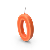 Number Zero Candle PNG & PSD Images