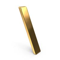 Gold Backslash Symbol PNG & PSD Images
