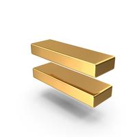 Gold Equal Symbol PNG & PSD Images
