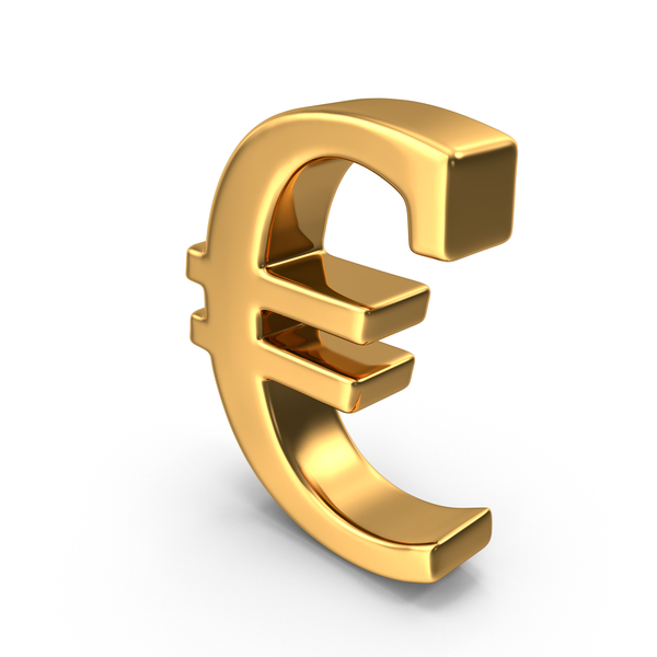 Gold Euro Symbol PNG & PSD Images