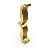 Gold Open Brace Symbol PNG & PSD Images