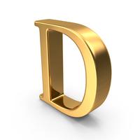 Gold Capital Letter D PNG & PSD Images