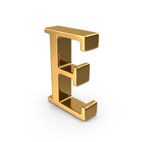 Gold Capital Letter E PNG & PSD Images