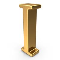 Gold Capital letter I PNG & PSD Images
