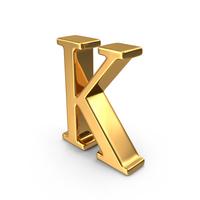 Gold Capital Letter K PNG & PSD Images