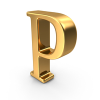 Gold Capital Letter P PNG & PSD Images