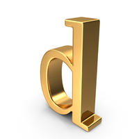 Gold Small Letter D PNG & PSD Images