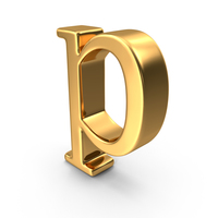 Gold Small letter p PNG & PSD Images