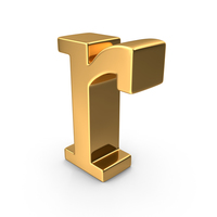 Gold Small Letter r PNG & PSD Images