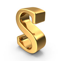 Gold Lowercase S PNG & PSD Images