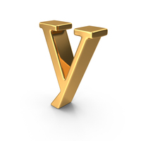 Gold Small Letter Y PNG & PSD Images