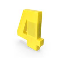 Number 4 Fridge Magnet PNG & PSD Images