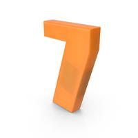 Number 7 Fridge Magnet PNG & PSD Images