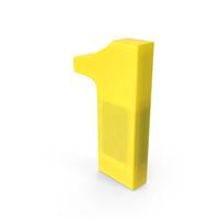 Number 1 Fridge Magnet PNG & PSD Images