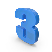 Number 3 Fridge Magnet PNG & PSD Images