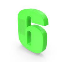 Number 6 Fridge Magnet PNG & PSD Images