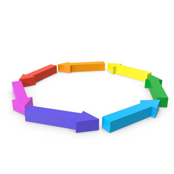 Arrow Circle Rainbow Spin PNG & PSD Images