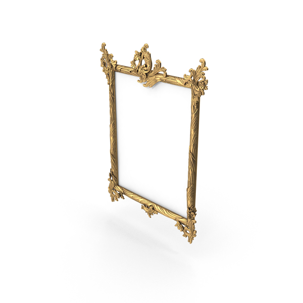 Baroque Carved Picture Frame PNG & PSD Images