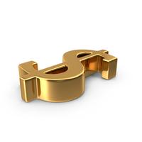Gold Dollar Symbol PNG & PSD Images