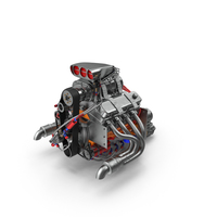 Car Engine with Blower PNG & PSD Images