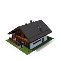 Shale Style Villa with Back Yard PNG & PSD Images