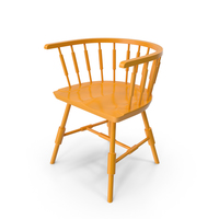 Yellow Atlantic Lowback Armchair PNG & PSD Images