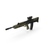 L85A2 Assault Rifle Scope Attached PNG & PSD Images