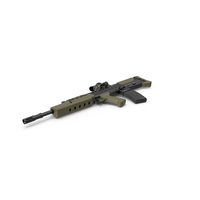 L85A2 Assault Rifle with Scope PNG & PSD Images