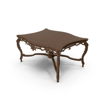 Baroque Carved Coffee Table PNG & PSD Images