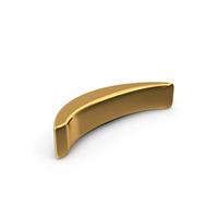 Gold Parenthesis Symbol PNG & PSD Images