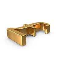 Gold Pounds Symbol PNG & PSD Images