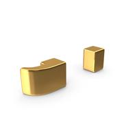 Gold Semicolon Symbol PNG & PSD Images