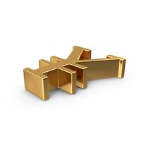 Gold Yuan Symbol PNG & PSD Images