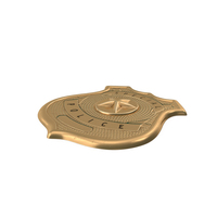 Brass Special Police Badge PNG & PSD Images