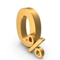 Gold Zero Percent Sign PNG & PSD Images