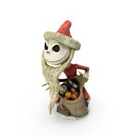 Santa Jack Skellington Figurine PNG & PSD Images