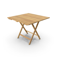 Patio Square Card Table PNG & PSD Images