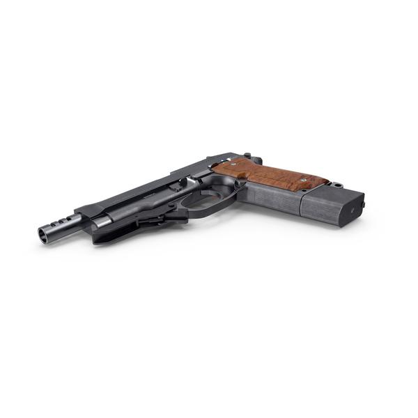 Machine Pistol Beretta 93R PNG & PSD Images