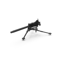 M1919 Browning 30cal Machine Gun Mounted on the Tripod PNG & PSD Images