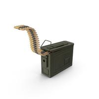Ammunition Box with Belt PNG & PSD Images
