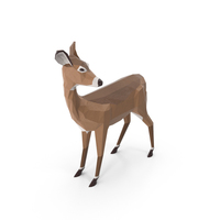 Low Poly Doe PNG & PSD Images