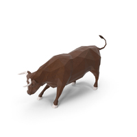 Low Poly Bull PNG & PSD Images