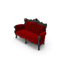 Red Belle de Fleur French Love Seat PNG & PSD Images