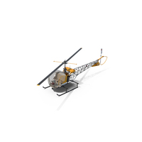 Light Helicopter Bell 47 PNG & PSD Images
