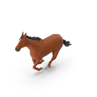 Low Poly Horse PNG & PSD Images